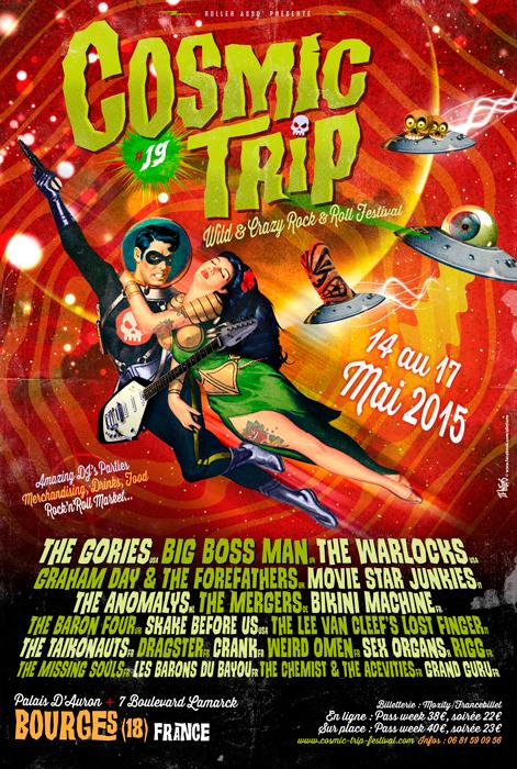affiche cosmic trip 2015