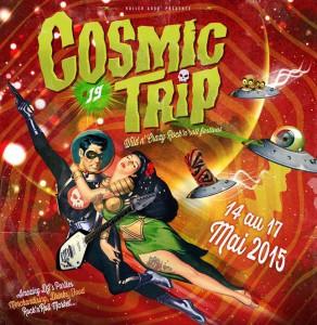 Affiche cosmic trip 2015 19ème édition