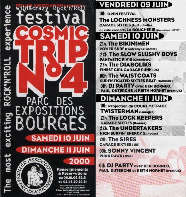 Affiche Cosmic Trip Festival 2000