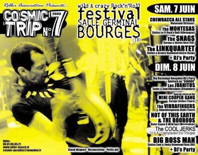Affiche Cosmic Trip Festival 2003