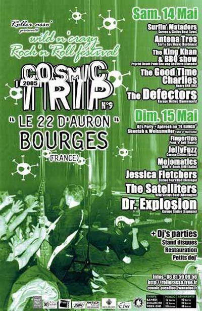 Affiche Cosmic Trip Festival 2005