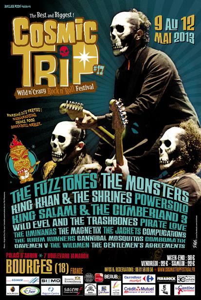 Affiche Cosmic Trip Festival 2013