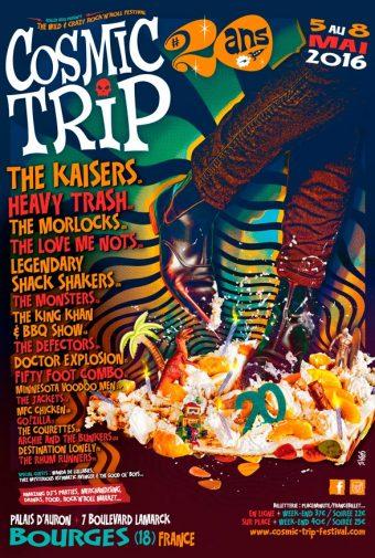 Affiche du cosmic Trip festival 20 ans