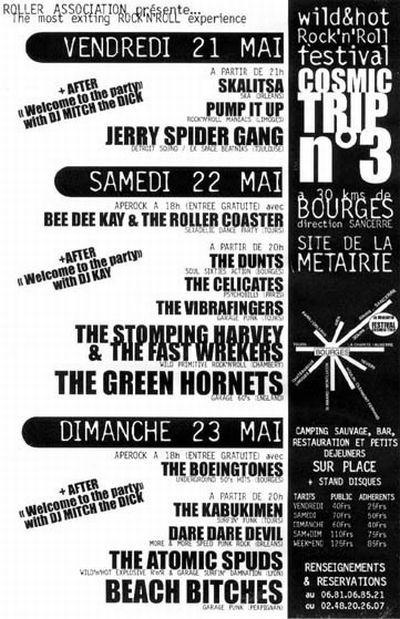 Affiche Cosmic Trip Festival 1999