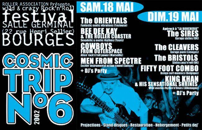 Affiche Cosmic Trip Festival 2002